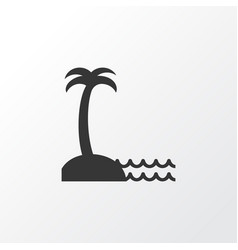 Seaside place icon symbol premium quality vector