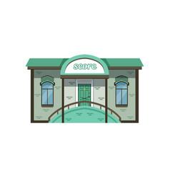 small modern city building facade vector image