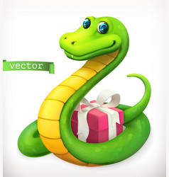 snake animal in the chinese zodiac chinese vector image