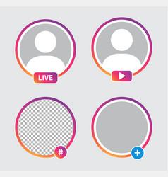 social media avatar frames vector image