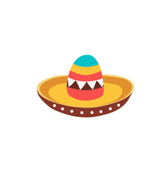 sombrero hat icon vector image