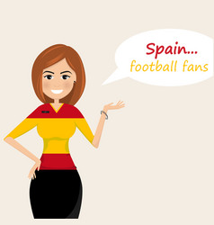 spain football fanscheerful soccer fans sports vector image