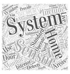 Standard Home Security System Information Word vector