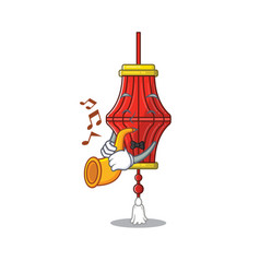 Supper cool chinese paper lanterns cartoon vector