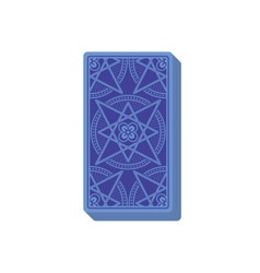 Tarot cards reverse side Deck Stack of cards vector