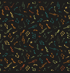 Varicolored seamless music pattern vector