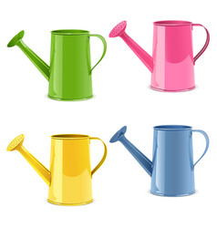 Watering can icons vector