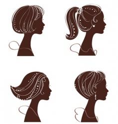 beautiful women vector image