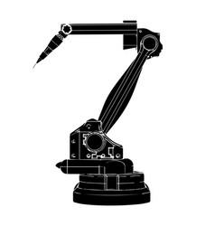 black welding robot vector image