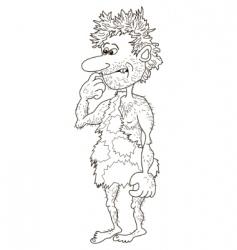 caveman man vector image