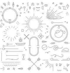 flat design elements gray vector image