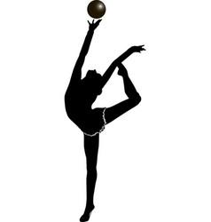 girl gymnast athlete vector image