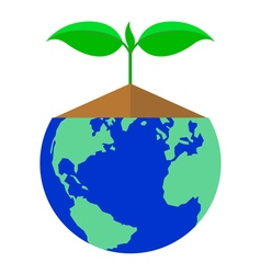 icon plant and earth vector image vector image