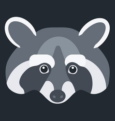 raccoon flat icon vector image