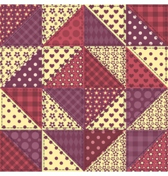 Seamless patchwork claret color pattern 1 vector image vector image