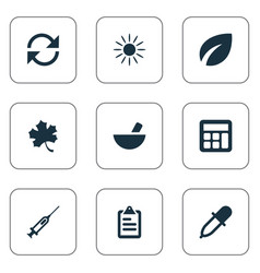 set of simple harvest icons vector image vector image
