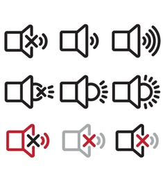 Sound And Lamp Icons vector image vector image
