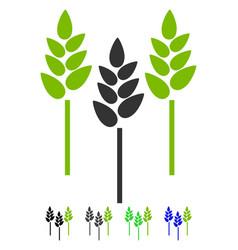 wheat ears flat icon vector image vector image