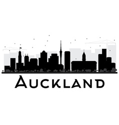 Auckland City skyline black and white silhouette vector image vector image