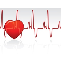 heart and heartbeat vector image vector image