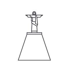 jesus statue line icon sign vector image vector image