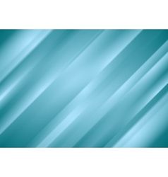 Blue abstract stripes background vector image vector image