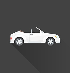 flat cabriolet roadster car body style icon vector image vector image