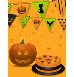 Halloween party background2 vector image vector image