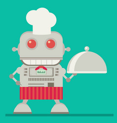 robot chef flat vector image