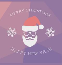 santa claus with beard vector image