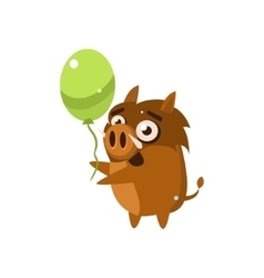 Wild Pig Party Animal Icon vector image