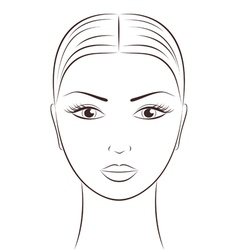 Women s face vector image vector image