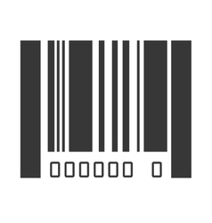 bar code design isolated vector image
