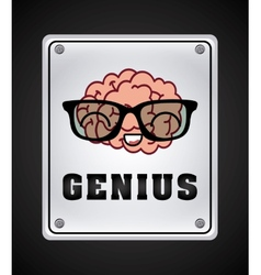 brain icon design vector image