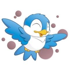 Cute cartoon bird vector