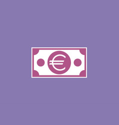 euro paper banknote vector image