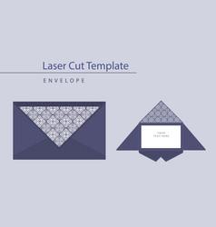 laser cut wedding invitation card template vector image