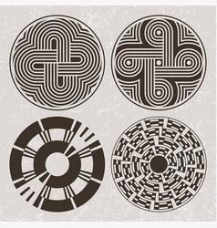 north america indians design graphic art tattoo vector image