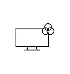 rgb color monitor icon vector image