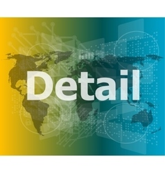 The word detail on digital screen business vector image vector image