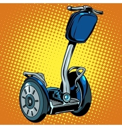 Abstract electric scooter with flashlight segway vector