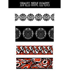 abstract native north american vector image