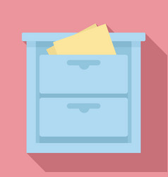 Archive drawer icon flat style vector