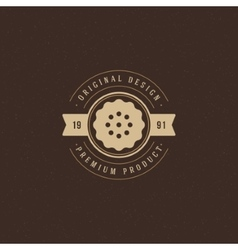 Bakery Shop Logo Template Design Element vector image