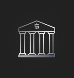 bank silver icon vector image