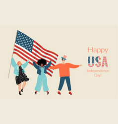 banner for usa independence day vector image