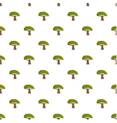 Baobab tree pattern seamless vector