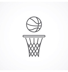 Basketball line icon vector