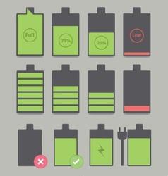 Battery sets vector