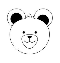 Bear or cute stuffed animal icon image vector
